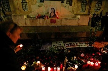 Memorial da jornalista Daphne Caruana Galizia em Valletta, Malta