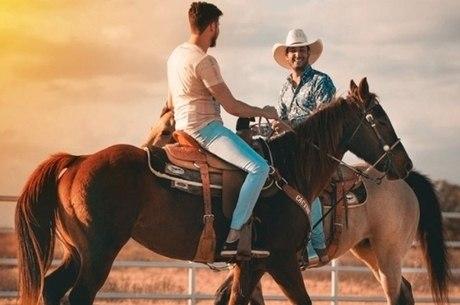 Bruno e Barretto estão em clima country nos EUA