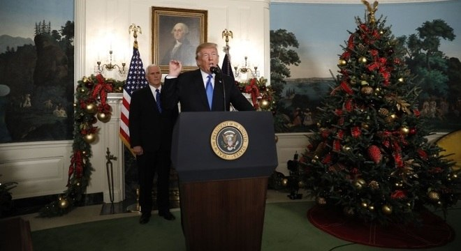 Trump reconheceu Jerusalém como a capital de Israel em discurso na Casa Branca