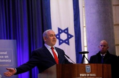 Nenanyahu no Ministério das Relações Exteriores de Israel