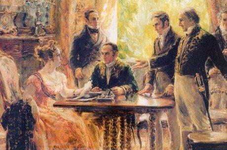 Reunião com o Conselho de Ministros em 1822