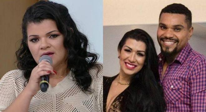 Branka disse na TV que também apanhava de Naldo, acusado de agredir a atual mulher
