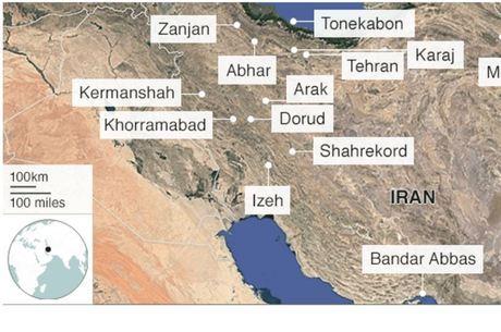 Localização das cidades onde ocorreram os principais protestos até o momento