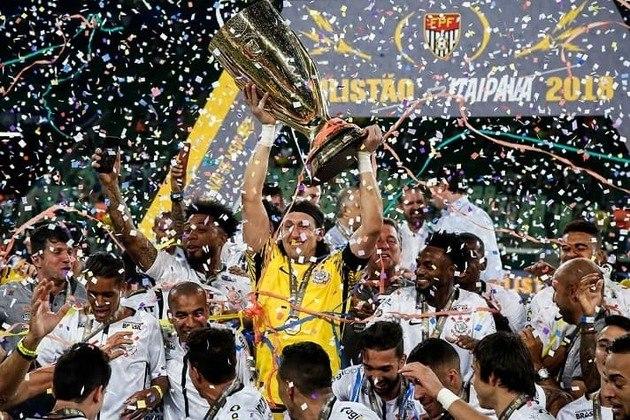 2018 - Naquele ano, o Timão se sagrou campeão paulista ao ser derrotado pelo Palmeiras por 1 a 0 na ida (Neo Química Arena) e vencer por 1 a 0 na volta (Allianz Parque), levando a decisão para os pênaltis, em que acabou batendo o rival, ficando com o título.