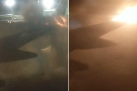 Passageiro teria registrado momento de explosão