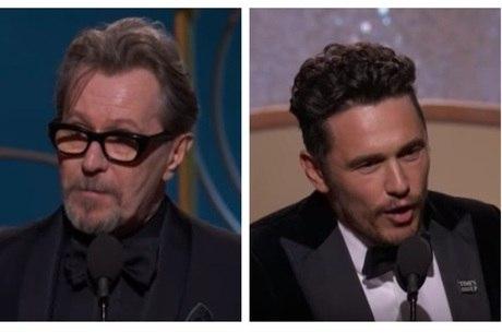 Gary Oldman e James Franco foram acusados após prêmios