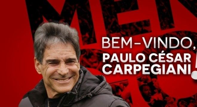 Carpegiani comandará o Flamengo pela terceira vez