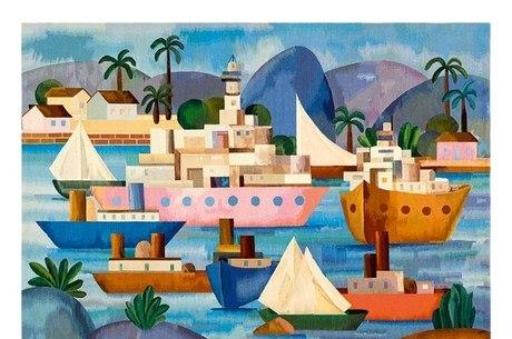 """Tapeçaria """"O Porto"""", de 1953, é uma das obras da exposição"""