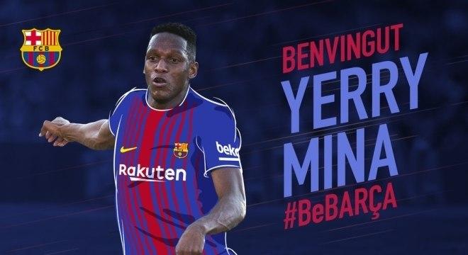 bc4123fa07 Barcelona anuncia contratação do zagueiro Mina
