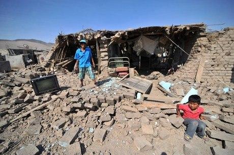 A cidade de Acari, em Arequipa, foi uma das mais atingidas