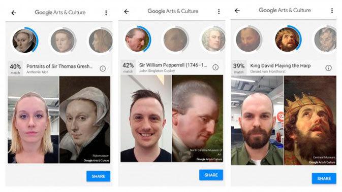 Aplicativo do Google mostra com qual obra de arte você se parece