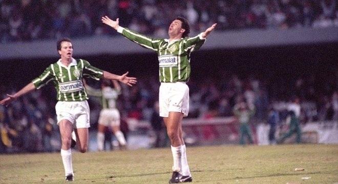 Evair fez gol na final do Paulista de 93, quando acabou fila de 17 anos do Palmeiras