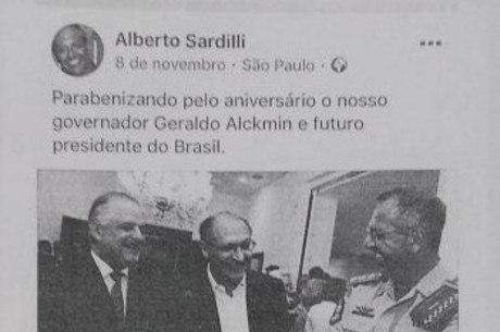 Cópia da publicação do Coronel Sardilli no Facebook