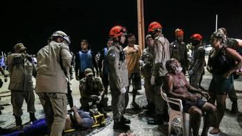 __Imagens mostram resgate de feridos após atropelamento no Rio__ (Ian Cheibub/Agif/Estadão Conteúdo/18.01.2018)
