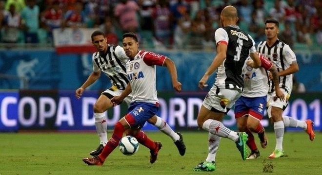 467dbf3811 Edigar Junio encara a defesa do Botafogo-PB na estreia do Bahia na Copa do