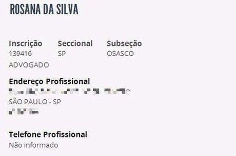 Rosana da Silva está há dez anos sem pagar a anuidade da OAB, o que a impede de retomar a carreira