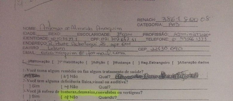 Documento Detran CNH