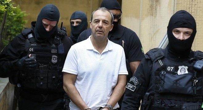 O ex-governador do Rio de Janeiro Sergio Cabral, realiza exame corpo delito no IML em Curitiba (PR)
