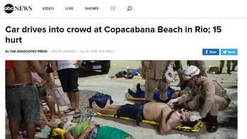 __Mídia internacional repercute atropelamento em Copacabana__ (Reprodução)