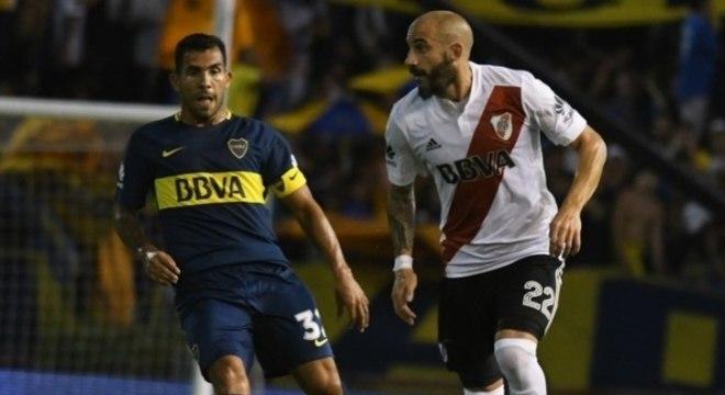 O Boca Juniors, de Tevez, e o River Plate, de Pínola: maiores rivais dos brasileiros na Libertadores 2018