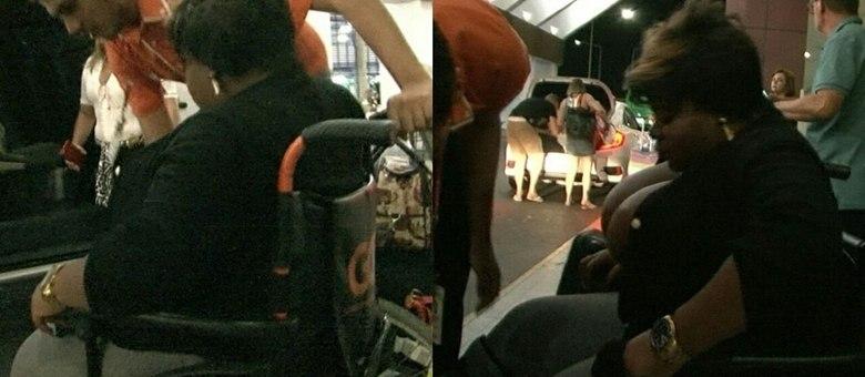 Cantora teria se machucado durante uma apresentação no Rio de Janeiro, onde mora