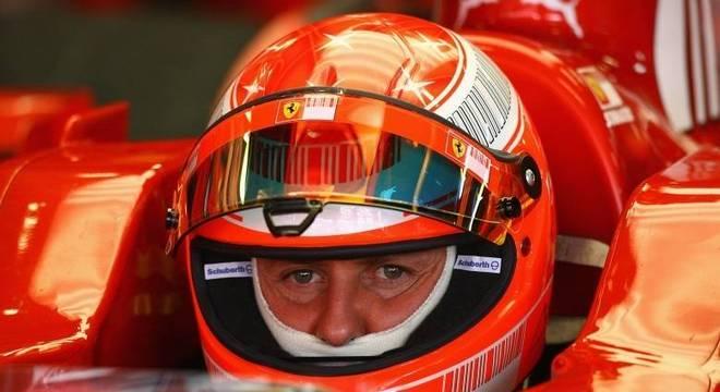 Michael Schumacher quando era piloto de Fórmula 1 da Ferrari