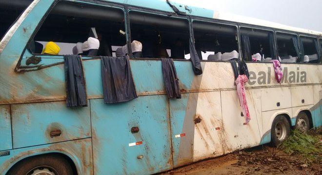 Ônibus saiu de Barreiras, na Bahia, com destino a Palmas