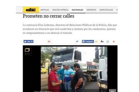 Grevistas não devem fechar Assunção, diz jornal ABC Color