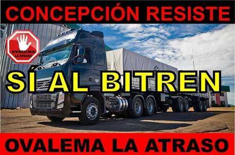 Comerciantes de Concepción defendem treminhões