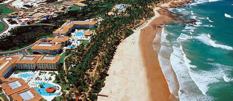 O complexo de hotéis de Costa do Sauípe, no Litoral Norte baiano