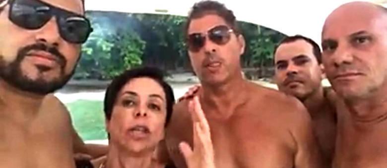 Cristiane Brasil grava vídeo na praia sobre ações trabalhistas rodeada de amigos