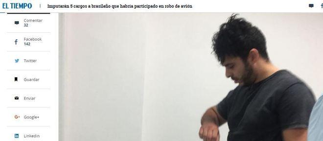 Jornais locais reproduzem foto do brasileiro preso cedida pela procuradoria