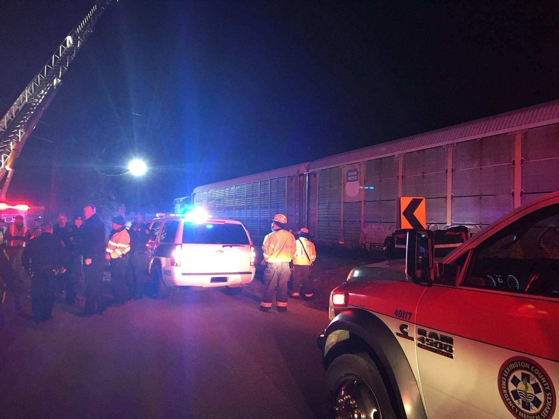 Colisão de comboios na Carolina do Sul