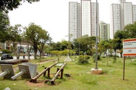 Praça no bairro de Tucuruvi, na zona norte de SP