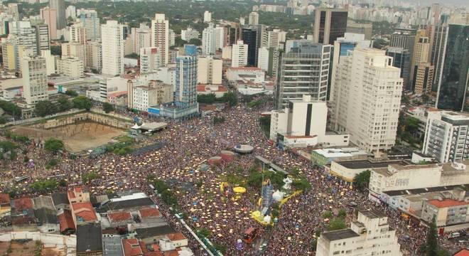 Bloco toma conta da região central de São Paulo