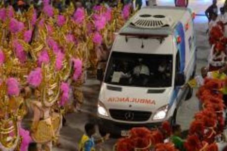 Mais de 1.800 atendimentos médicos foram feitos na Sapucaí