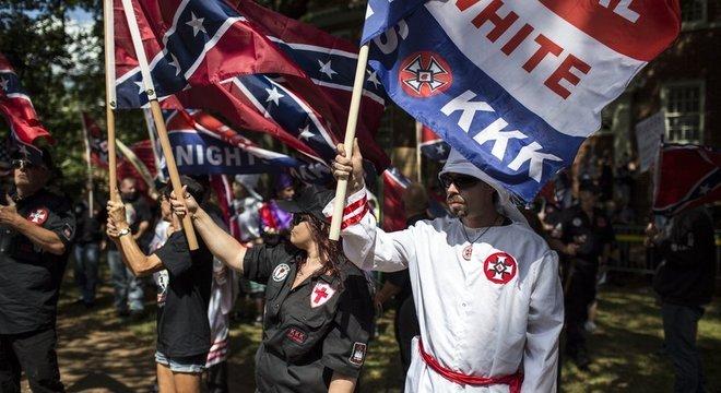 Os EUA tem dezenas de grupos de supremacistas brancos