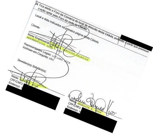 Assinam o empréstimo, os sócios-proprietários da Brisair, Luciano e Angélica Huck