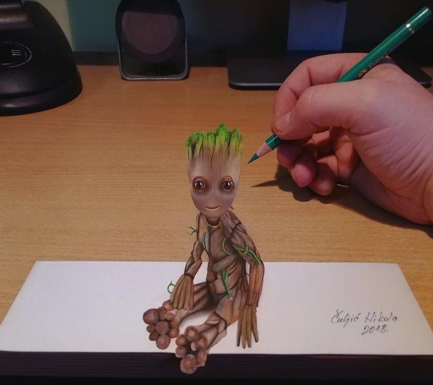 Artista Cria Desenhos 3d Tão Realistas Que Confundem A Mente