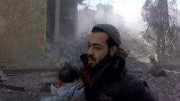 Bombardeio deixa mais de 100 mortos em um dos dias mais sangrentos  ()