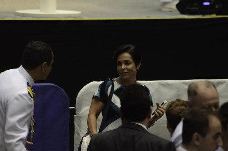 Cristiane participou hoje de cerimônia da Marinha em Itaguaí (RJ)