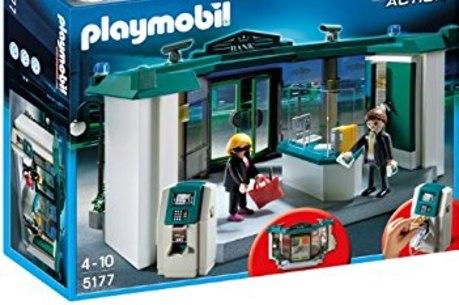 Brinquedo trás personagens apenas de ladrão e reféns