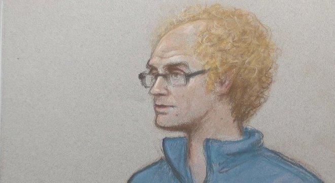 Imagem do professor durante o julgamento em que foi condenado a 32 anos de prisão: ele se declarou culpado por 137 acusações