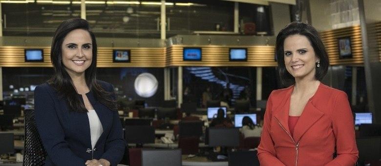 Carla Cecato e Roberta Piza apresentam ao jornalistico Fala Brasil