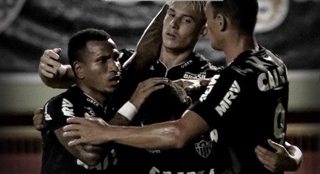 Róger Guedes abriu o caminho para a goleada do Atlético-MG