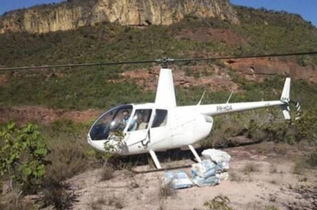 Helicóptero pertencente à Ramos que foi apreendido