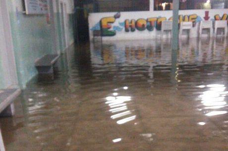 Salas do Degase foram inundadas em Belford Roxo