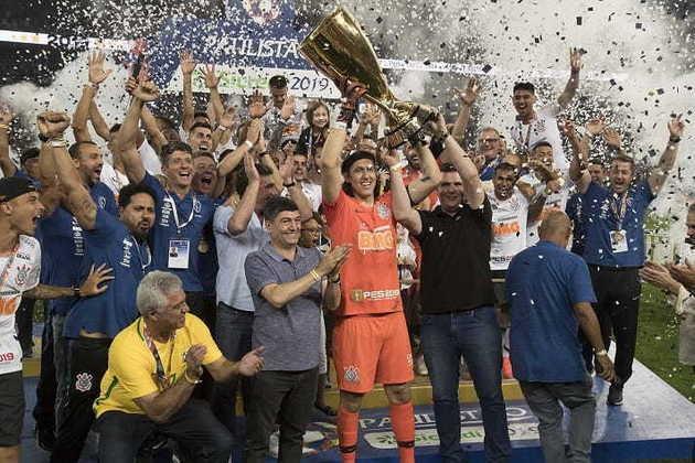 2019 - Naquele ano, o Timão se sagrou campeão paulista ao empatar em 0 a 0 com o São Paulo na ida (Morumbi) e vencer por 2 a 1 na volta (Neo Química Arena).