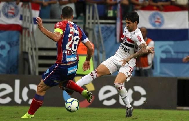 2019 - Oitavas de final - Bahia: desta vez, o algoz foi o Bahia, que venceu os dois jogos por 1 a 0 e eliminou o São Paulo.