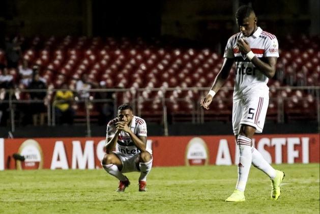2019 - Primeira fase - Um dos maiores vexames da história do São Paulo. O Tricolor foi eliminado na primeira fase da competição, ainda antes da fase de grupos, para o Talleres (ARG). Vitória dos hermanos em casa por 2 a 0 e empate no Morumbi por 0 a 0.